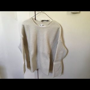 Sweater - tan/off-white